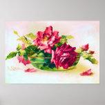 Cuenco de poster de los rosas