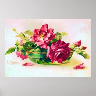 Cuenco de poster de los rosas póster