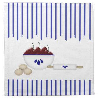 Cuenco de servilleta de las cerezas