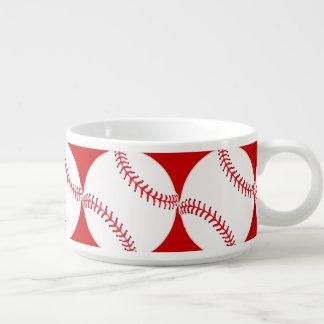 Cuenco de sopa del chile del diseño del béisbol tazón
