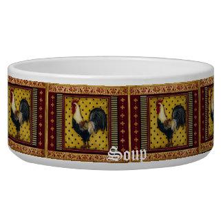 Cuenco de sopa del gallo del país tazon para perro