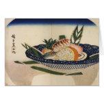 Cuenco de sushi, circa 1800's Japón Tarjeta