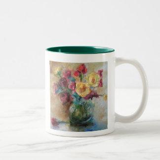 cuenco de taza de las flores