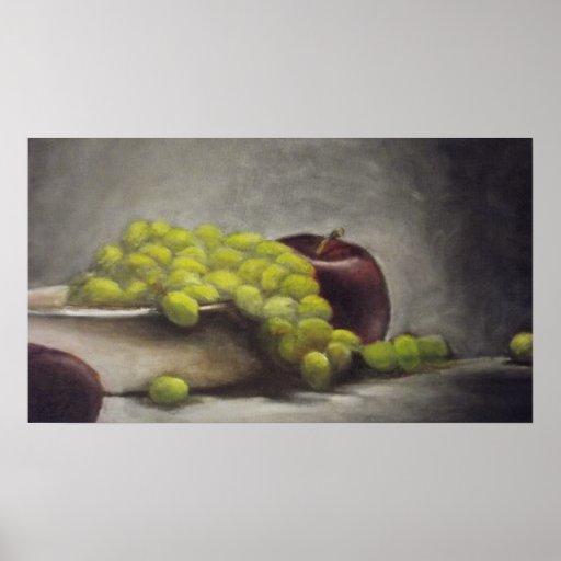 Cuenco de uvas posters