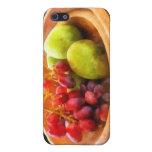 Cuenco de uvas rojas y de peras iPhone 5 cárcasa
