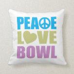 Cuenco del amor de la paz cojines