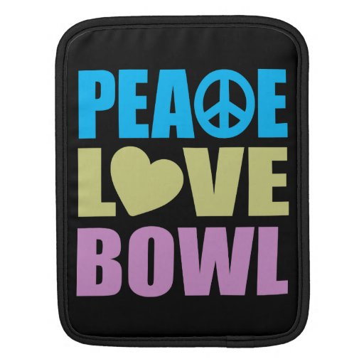 Cuenco del amor de la paz funda para iPads