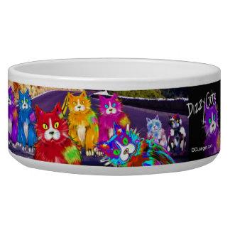 ¡Cuenco del gatito de DizzyCat! Tazón Para Perro