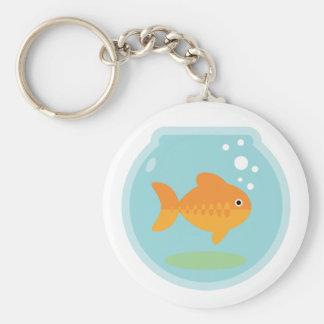 Cuenco del Goldfish Llaveros Personalizados