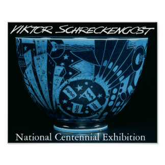 Cuenco del jazz de Victor Schreckengost Nueva York Póster