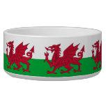 Cuenco del mascota de la bandera de País de Gales Boles Para Gatos