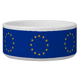 Cuenco del mascota de la bandera de unión europea tazon para perro