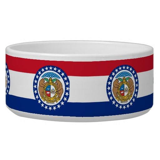 Cuenco del mascota de la bandera del estado de Mis Tazones Para Perro