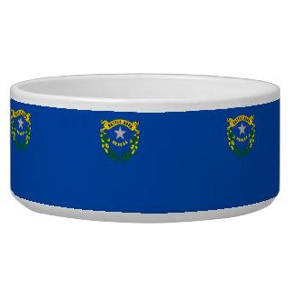 Cuenco del mascota de la bandera del estado de Nev Tazones Para Perrros