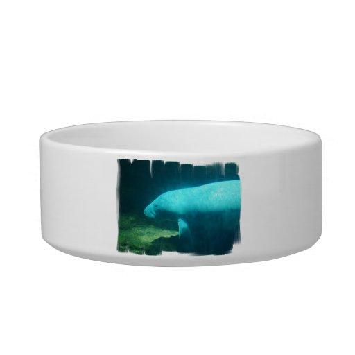 Cuenco del mascota de la nadada del Manatee Tazón Para Agua Para Gatos