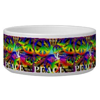 Cuenco del mascota de la paz comedero para mascota