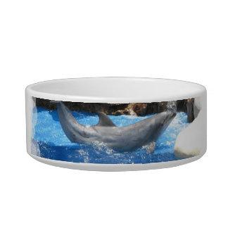 Cuenco del mascota de los trucos del delfín tazon para gato