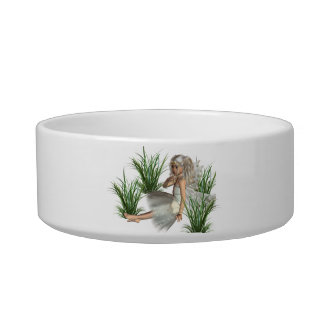 Cuenco del mascota del ángel del arbolado tazón para agua para gatos