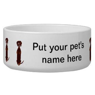 Cuenco del mascota del Dachshund Tazón Para Perro
