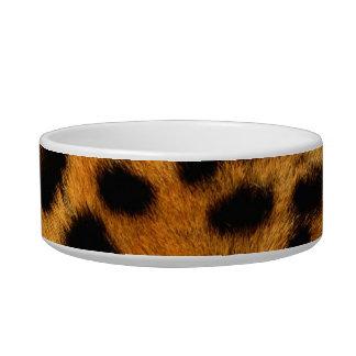 Cuenco del mascota del gato de leopardo del estamp tazón para gato