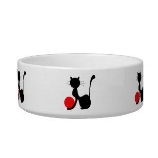 Cuenco del mascota del gato negro comedero para mascota