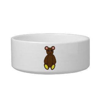 Cuenco del mascota del oso de Brown Tazon Para Gato