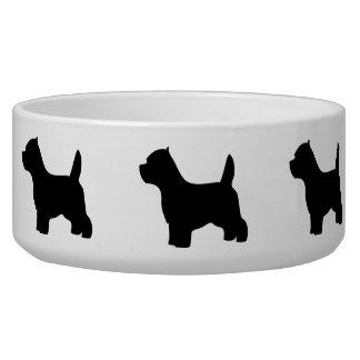 Cuenco del mascota del perro de Terrier blanco de  Comedero Para Mascota