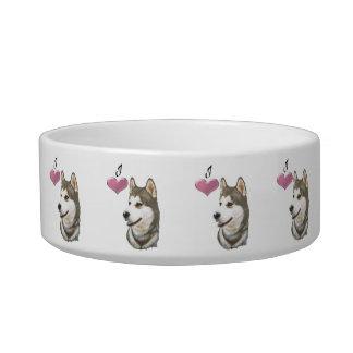 Cuenco del mascota del perro del husky siberiano d tazon para gato