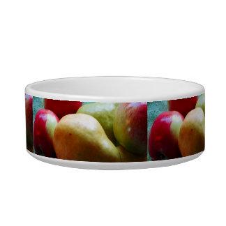 Cuenco del mascota del placer de la pera de Apple Comedero Para Mascota