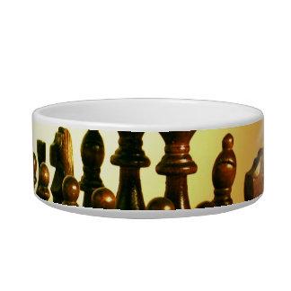 Cuenco del mascota del tablero de ajedrez bol para gato