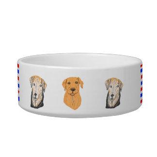 Cuenco del perro con los cuadros del perro tazones para comida para gato