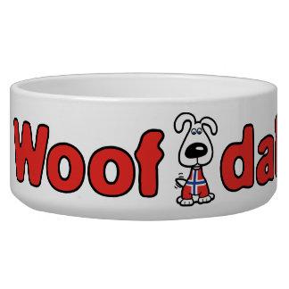 Cuenco del perro de Dah del tejido Bol Para Perro