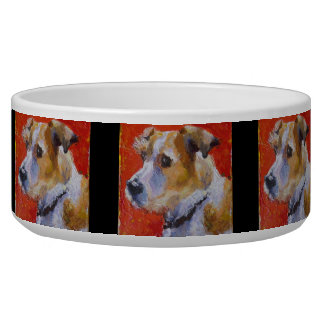 Cuenco del perro de Jack Russel Terrior Comedero Para Mascota