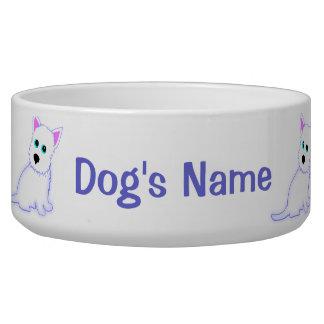 Cuenco del perro de Westie Comedero Para Mascota