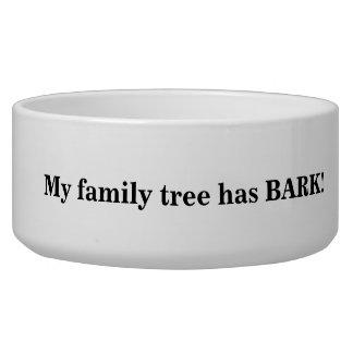 Cuenco del perro del árbol de familia tazón para perro