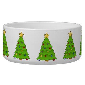Cuenco del perro del árbol de navidad tazones para perro
