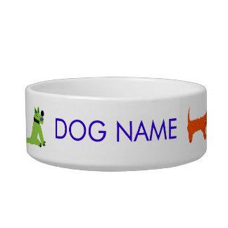 Cuenco del perro del arte: Perros locos el tintóre Comedero Para Mascota