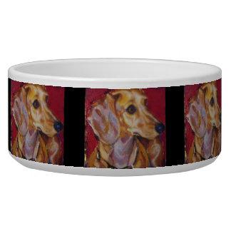 Cuenco del perro del Dachshund Comedero Para Mascota