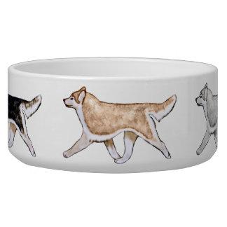 Cuenco del perro del husky siberiano de Gaiting Tazón Para Perro