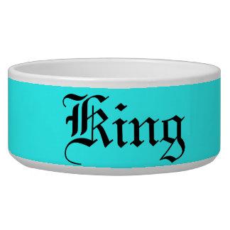 """Cuenco del perro del """"rey"""" tazones para perrros"""