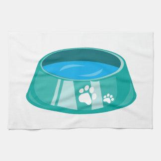 Cuenco del perro toallas de cocina