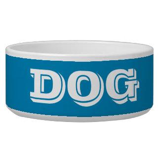 Cuenco del perro por el azul de acero grande de bol para perro