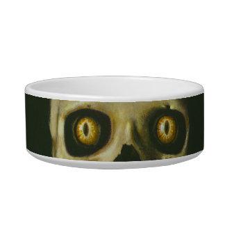 Cuenco fantasmagórico gótico del mascota de los comedero para mascota