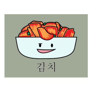 Cuenco feliz de Kimchi Kimchee - diseños felices Postal
