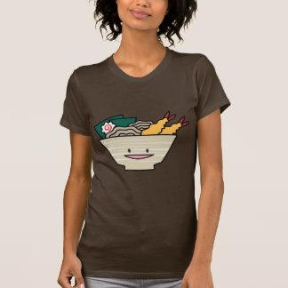 Cuenco feliz de los Ramen del Tempura Camiseta