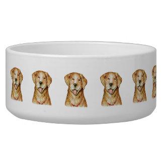 """Cuenco grande del perro del """"golden retriever"""" de  tazones para perro"""