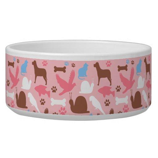 Cuenco lindo del perro de mascotas boles para gatos