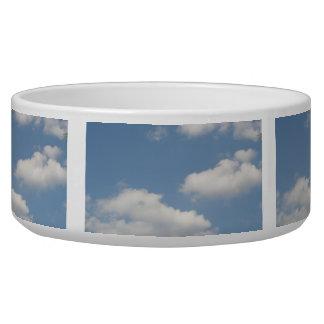 Cuenco mullido del perro de las nubes de cúmulo tazones para perro