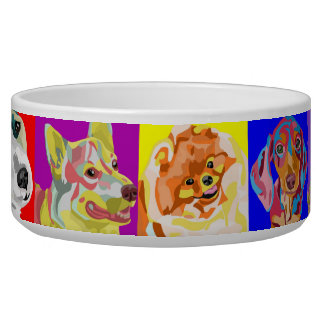 Cuenco múltiple colorido del perro de la raza tazon para perro
