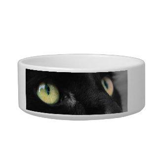 Cuenco negro afortunado de la comida para gatos tazón para gato
